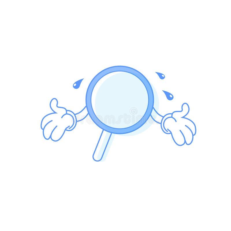 Aucun symbole trouvé et recherche infructueuse de vecotr illustration libre de droits