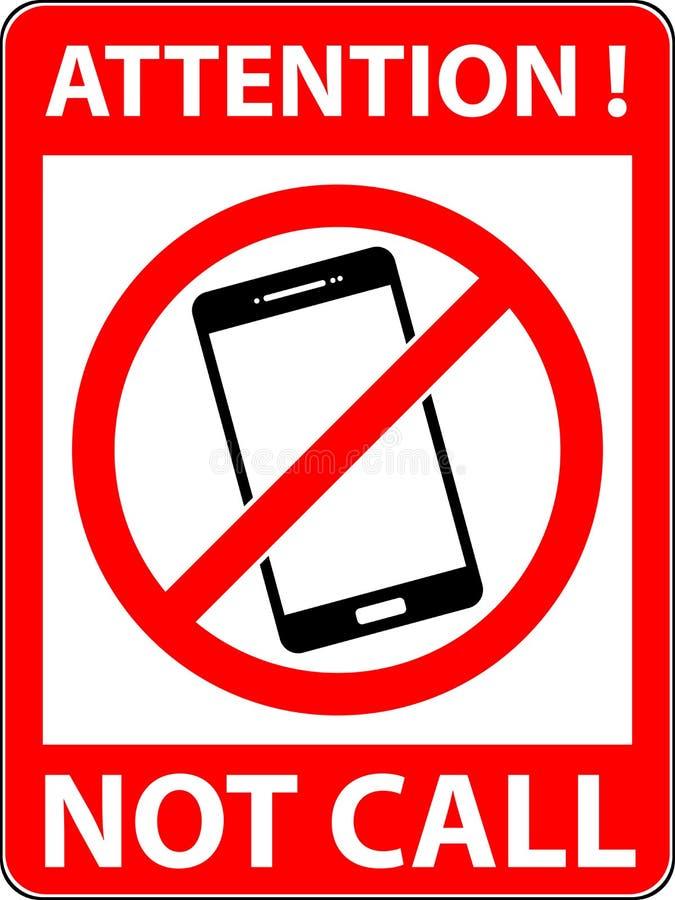Aucun téléphone, téléphone n'a interdit le symbole Vecteur illustration de vecteur