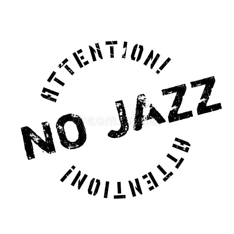 Aucun tampon en caoutchouc de jazz illustration libre de droits