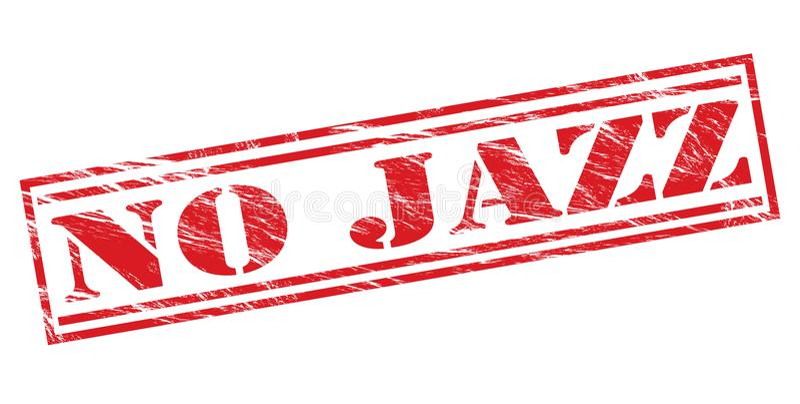 Aucun timbre rouge de jazz illustration de vecteur