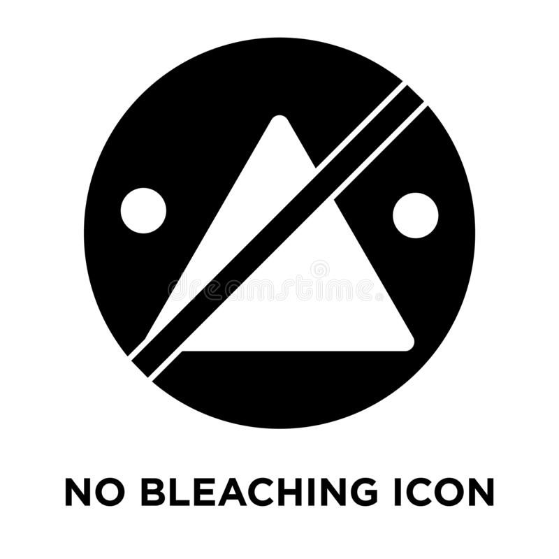 Aucun vecteur d'icône de blanchiment d'isolement sur le fond blanc, logo concentré illustration de vecteur