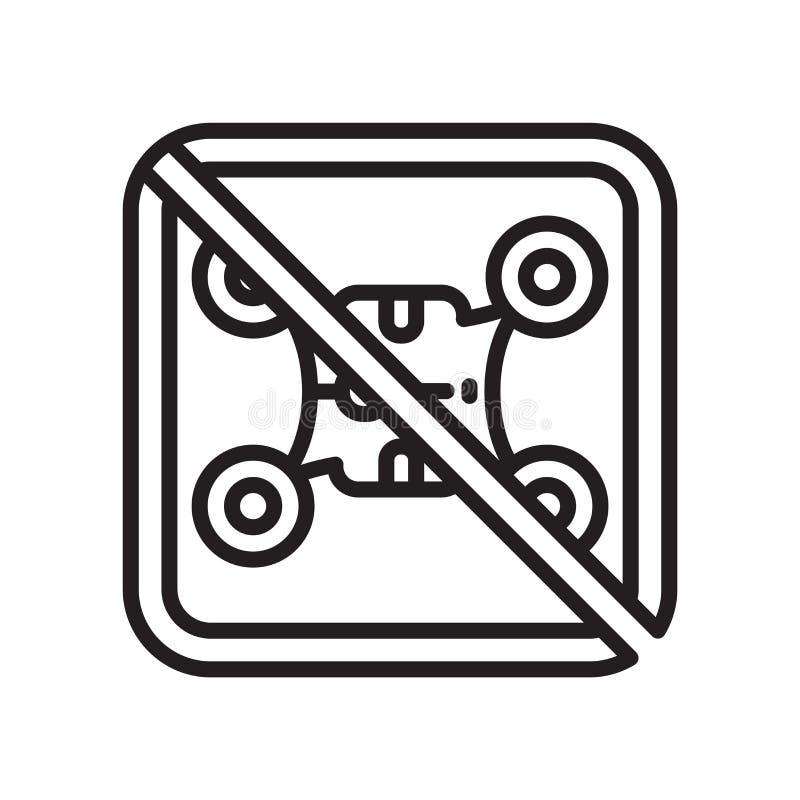Aucun vecteur d'icône de zone de bourdon d'isolement sur le fond blanc, aucun bourdon illustration libre de droits