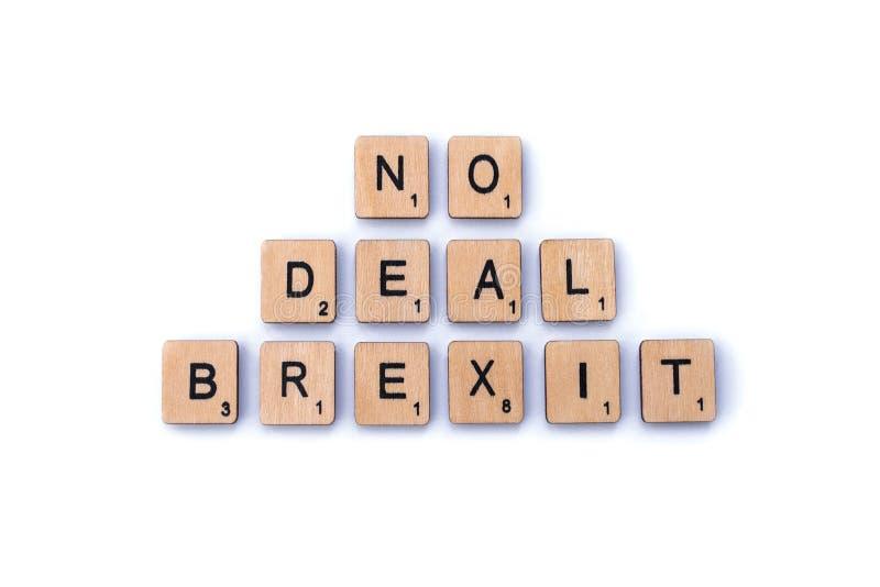 Aucune affaire Brexit images stock