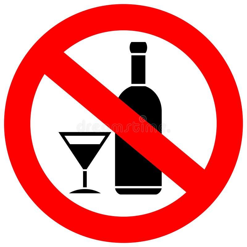 Aucune boissons d'alcool illustration libre de droits