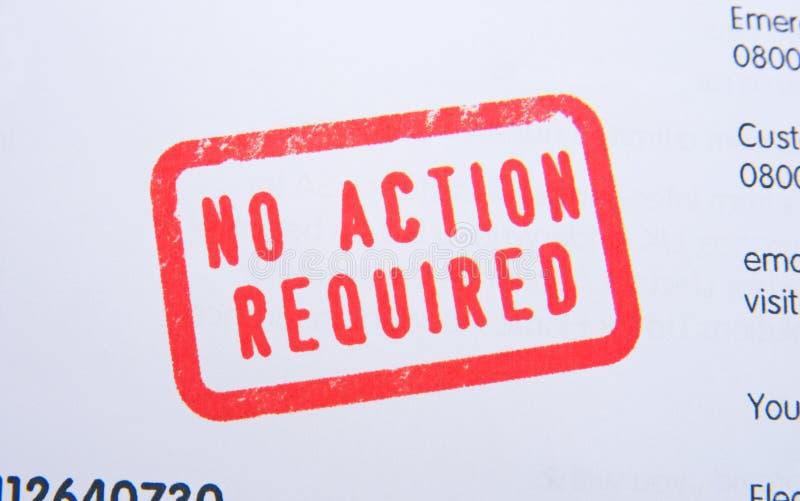 Aucune estampille requise par action. image libre de droits