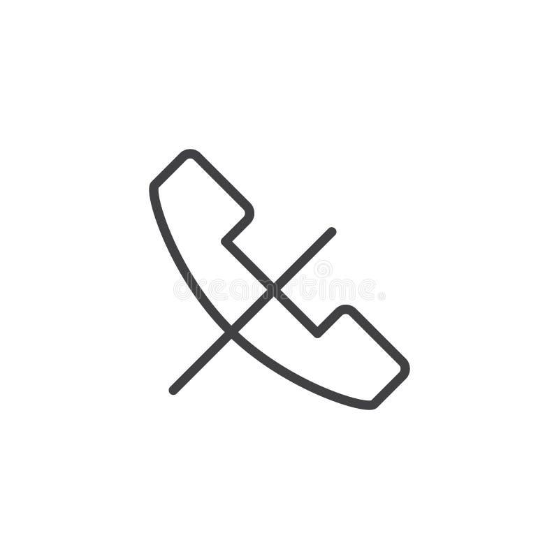 Aucune icône d'ensemble d'appel téléphonique illustration libre de droits