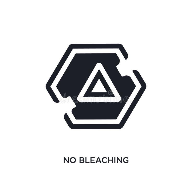 aucune icône d'isolement par blanchiment illustration simple d'élément des icônes de concept de signes pas conception editable de illustration de vecteur