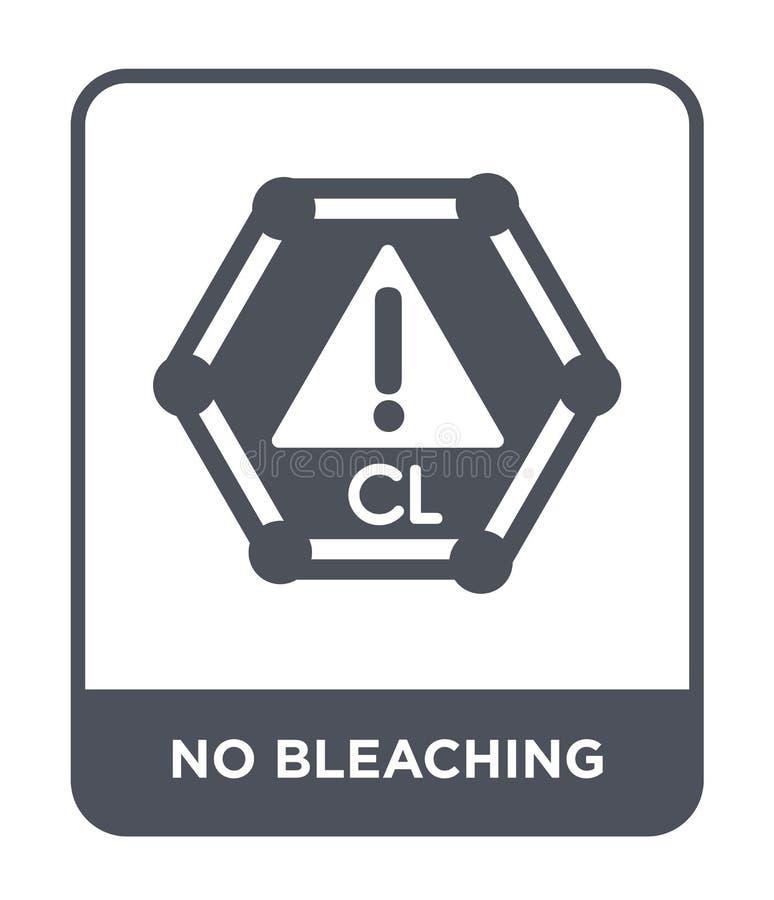 aucune icône de blanchiment dans le style à la mode de conception Aucune icône de blanchiment d'isolement sur le fond blanc aucun illustration de vecteur