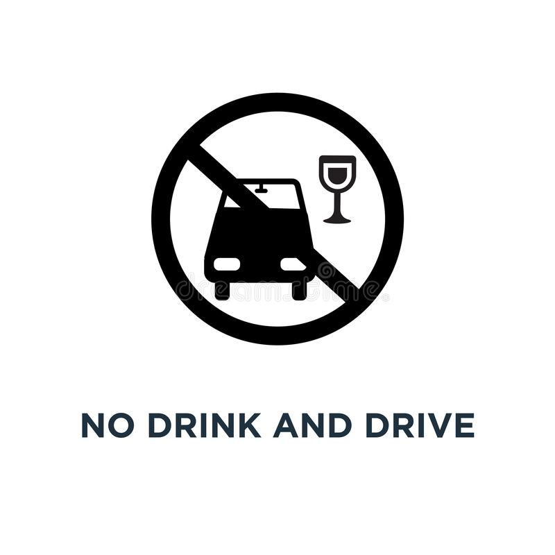 Aucune icône de boissons et d'entraînement Illustration simple d'élément Aucune boisson a illustration de vecteur