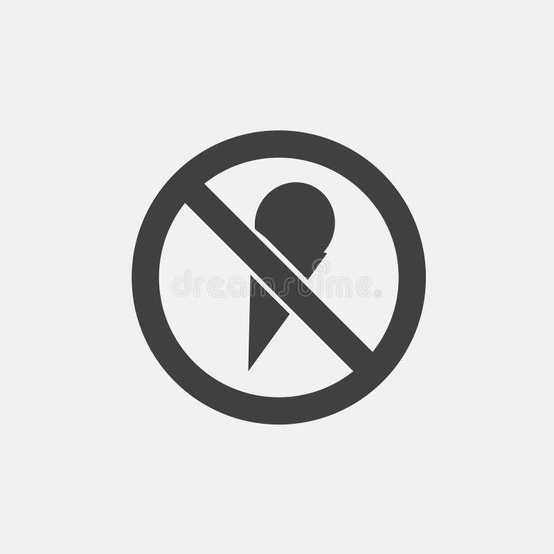 Aucune icône de crème glacée  illustration stock