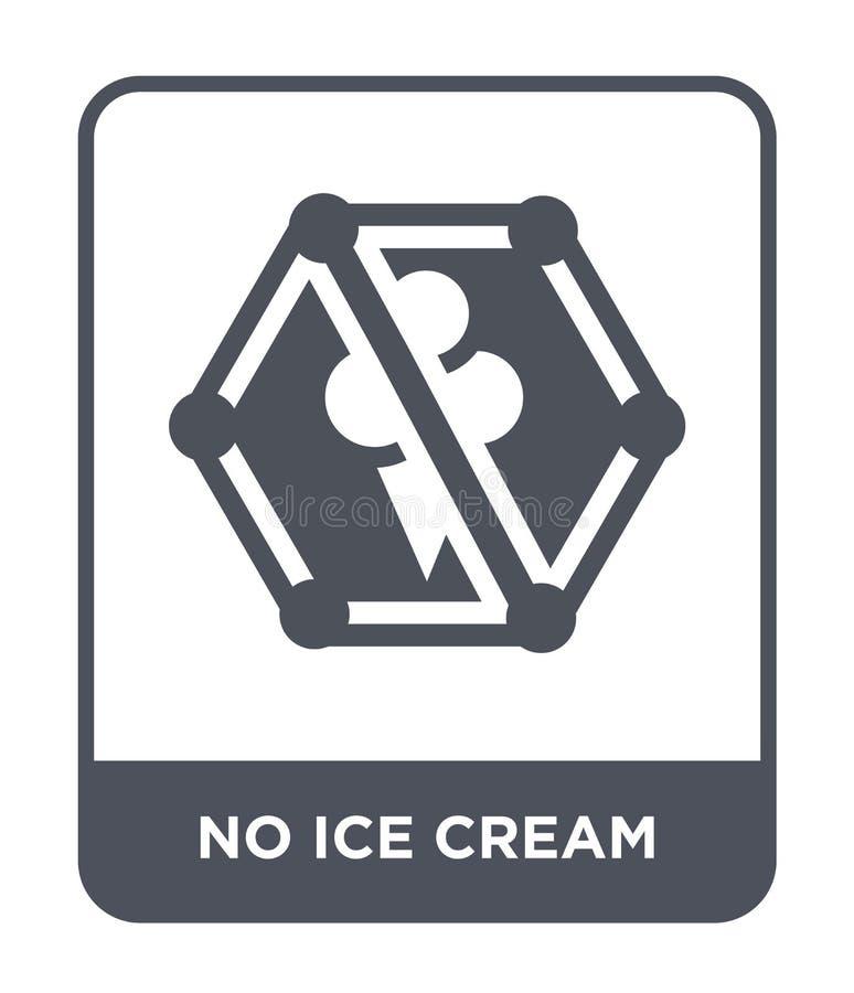 aucune icône de crème glacée dans le style à la mode de conception Aucune icône de crème glacée d'isolement sur le fond blanc auc illustration libre de droits