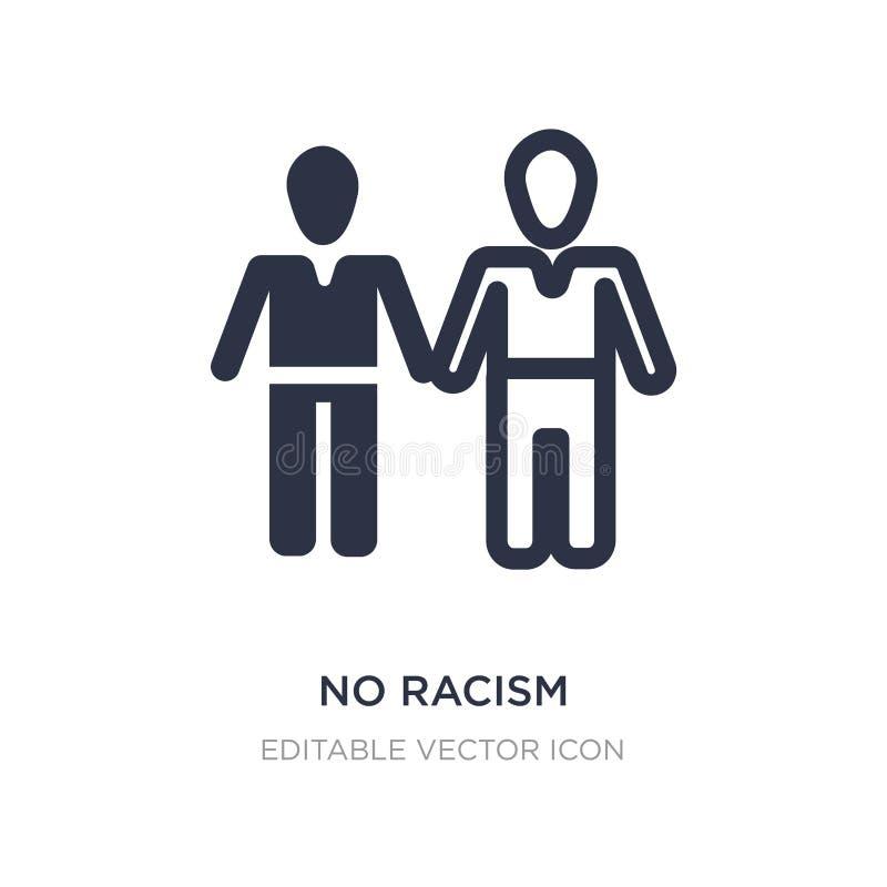 aucune icône de racisme sur le fond blanc Illustration simple d'élément de concept de personnes illustration libre de droits