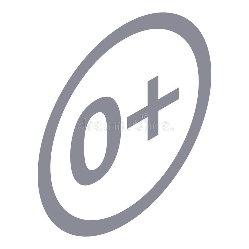 Aucune icône de signe d'âge de limite, style isométrique illustration libre de droits