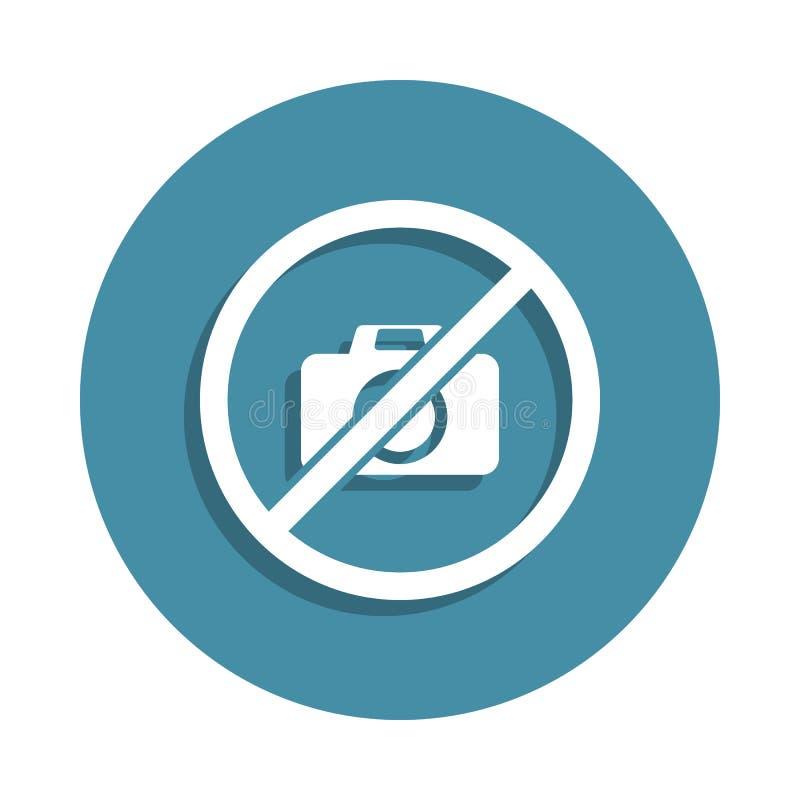 aucune icône de signe de photo dans le style d'insigne Un de l'icône de collection d'aéroport peut être employé pour UI UX illustration libre de droits