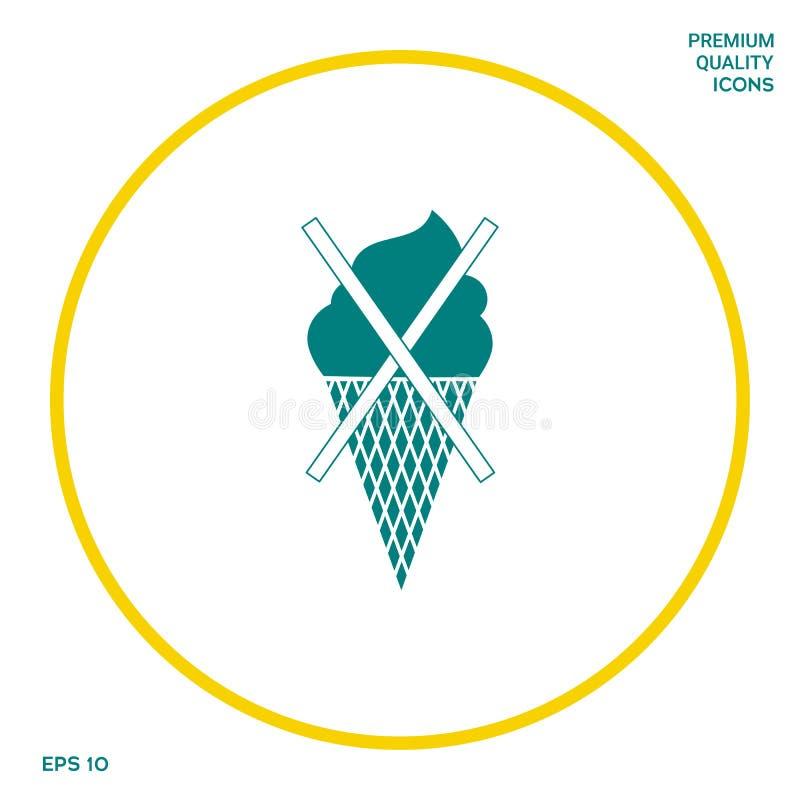 Aucune icône de symbole de crème glacée  Éléments graphiques pour votre conception illustration libre de droits