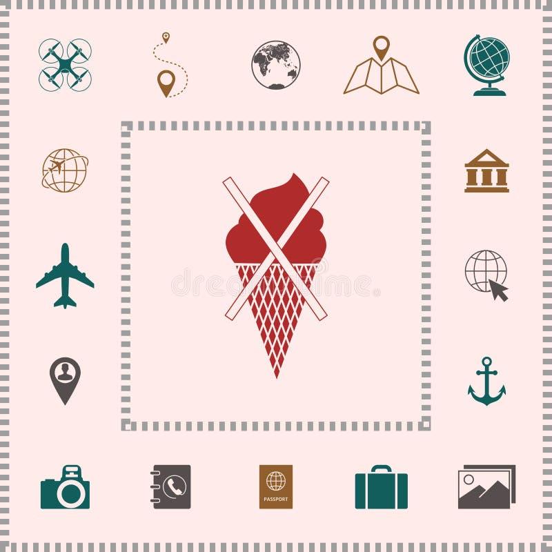 Aucune icône de symbole de crème glacée  Éléments pour votre conception illustration libre de droits