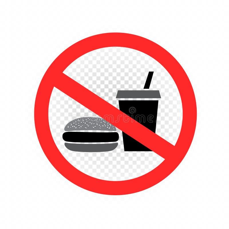 Aucune icône de symbole de signe d'aliments de préparation rapide transparente illustration de vecteur