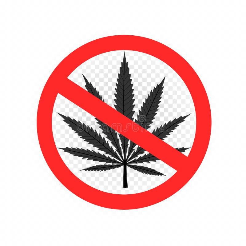Aucune icône de symbole de signe de drogues illustration stock