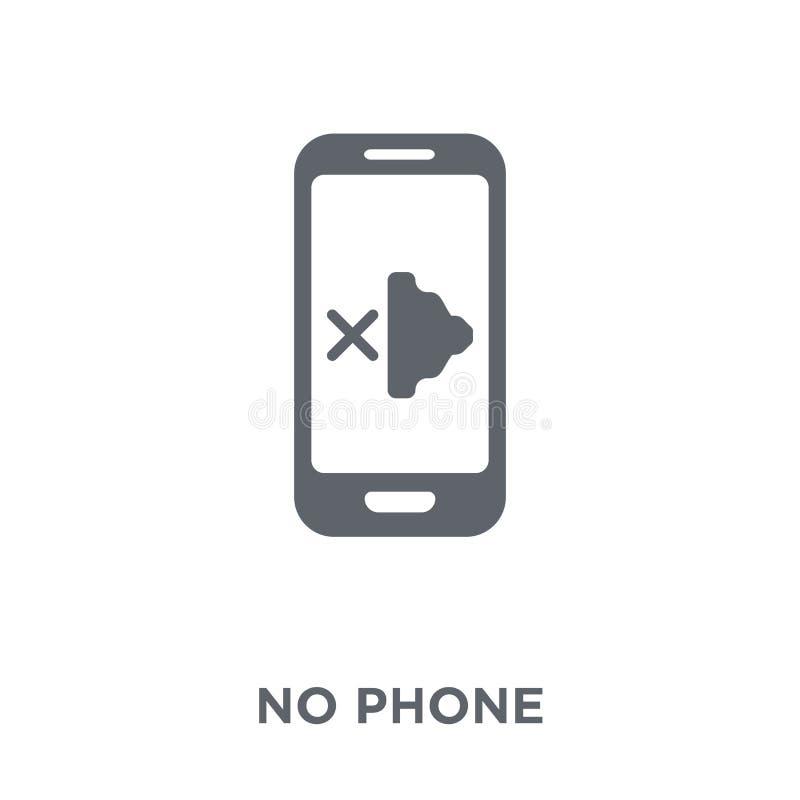 Aucune icône de téléphone de collection illustration stock