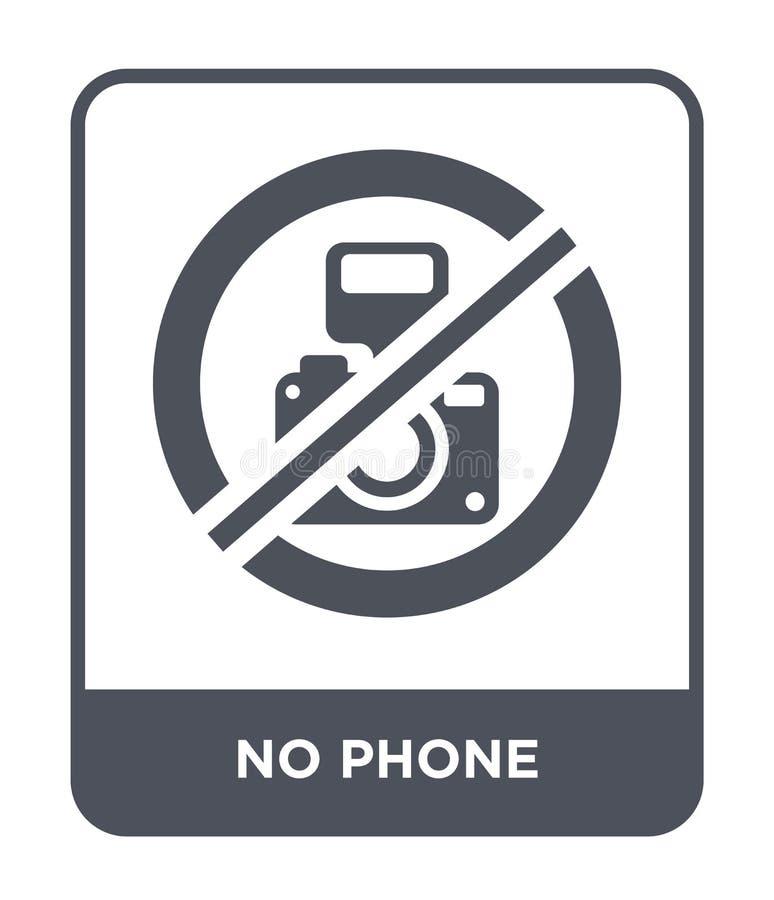 aucune icône de téléphone dans le style à la mode de conception Aucune icône de téléphone d'isolement sur le fond blanc apparteme illustration libre de droits