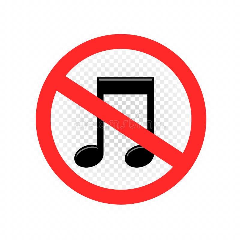 Aucune icône saine de symbole de signe illustration stock