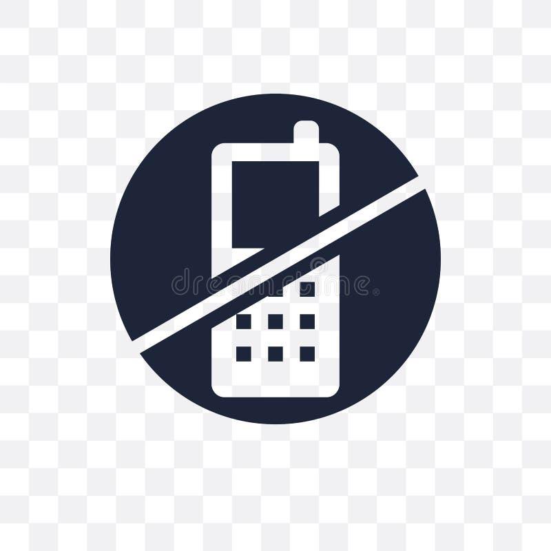 Aucune icône transparente de téléphone Aucune conception de symbole de téléphone du musée Co illustration libre de droits