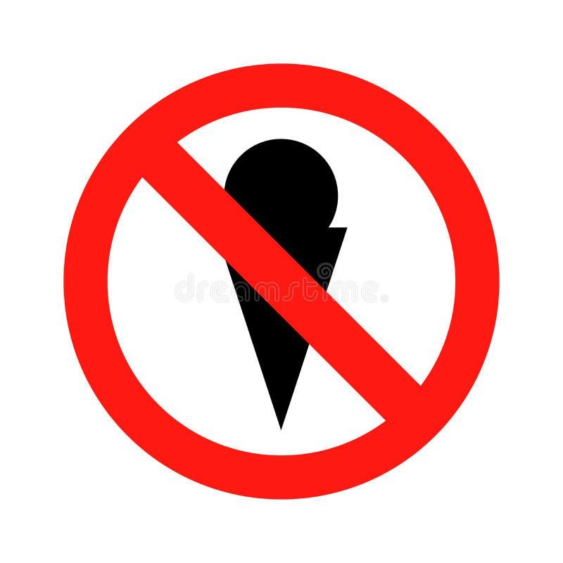 Aucune illustration de vecteur d'icône de symbole de crème glacée  illustration libre de droits