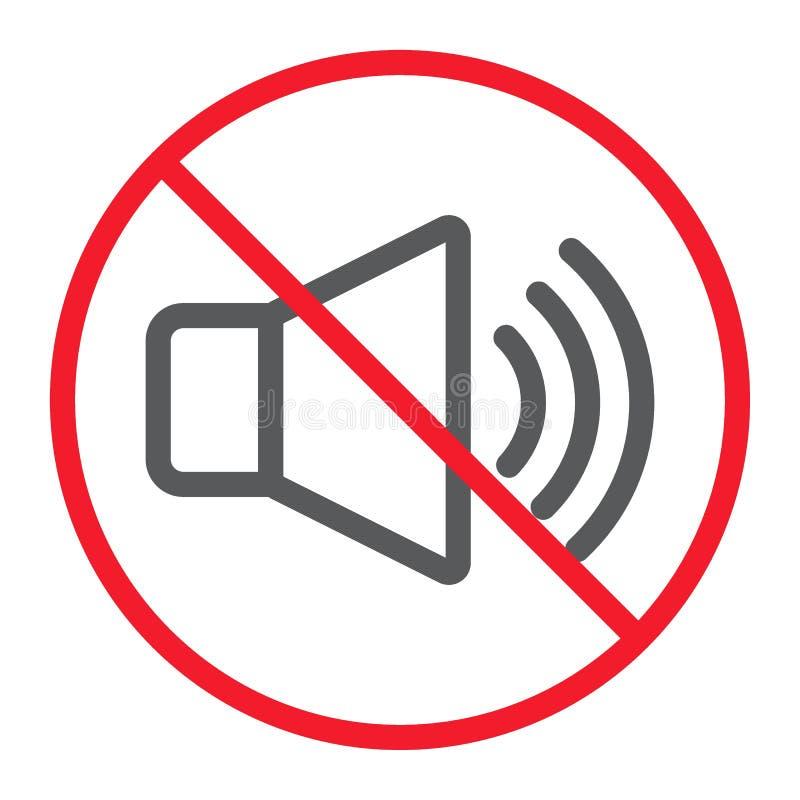 Aucune ligne saine icône, interdiction et interdit illustration de vecteur