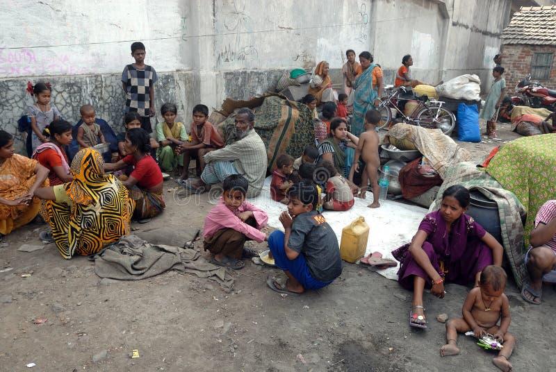 Aucune nourriture aucune maison. photos libres de droits
