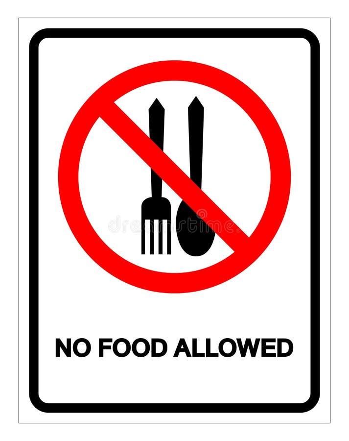 Aucune nourriture n'a permis le signe de symbole, l'illustration de vecteur, isolat sur le label blanc de fond EPS10 illustration stock
