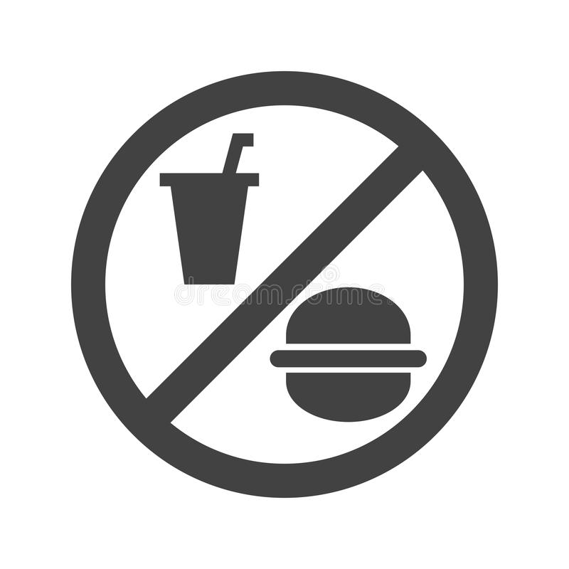 Aucune nourriture ou boissons illustration stock