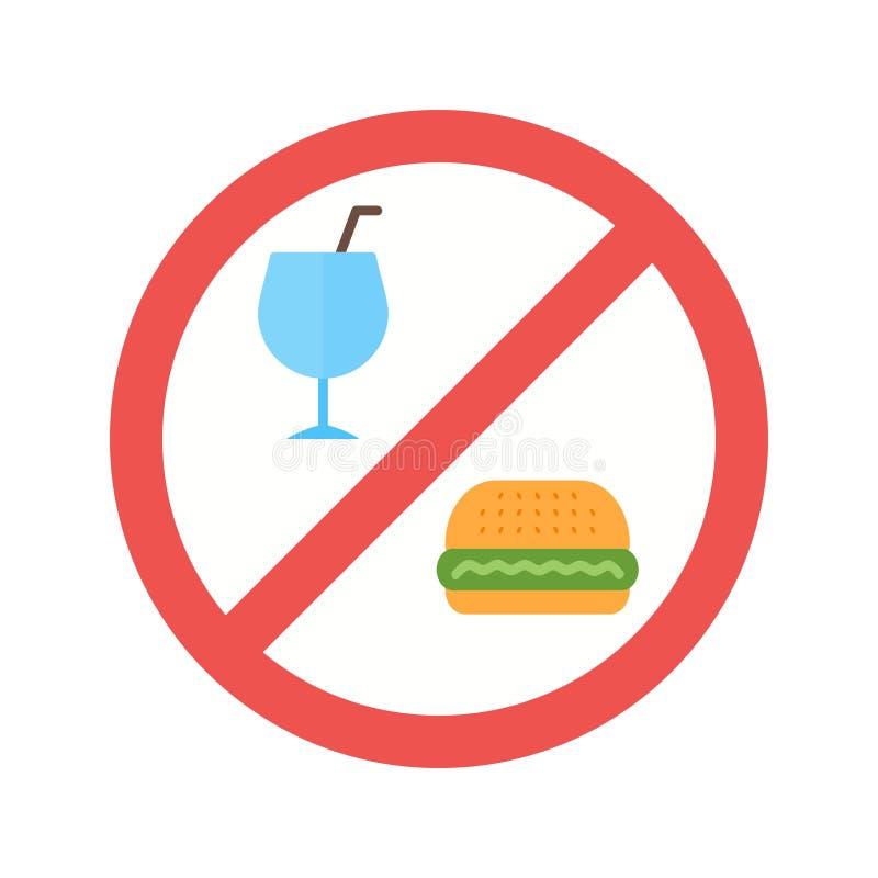 Aucune nourriture ou boissons illustration de vecteur