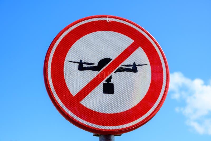 Aucune publicité de signe de bourdon, secteur interdit, aucune zone de mouche image libre de droits
