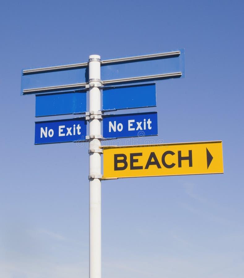 Aucune sortie de la plage photographie stock libre de droits