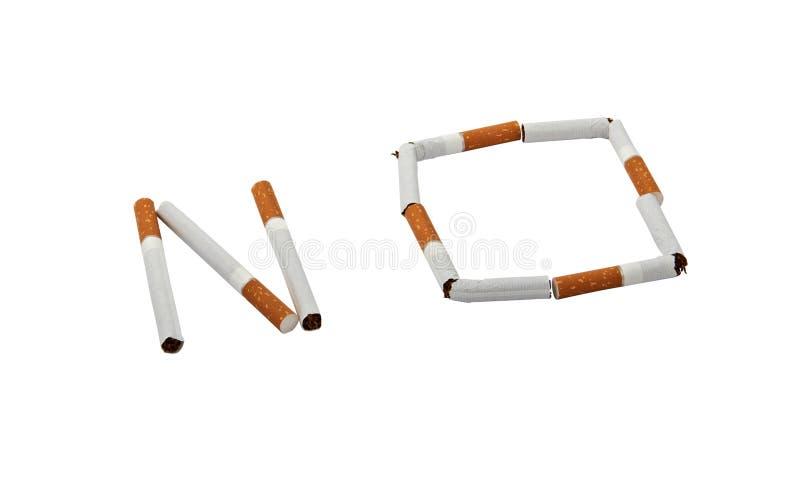 Aucunes cigarettes photo stock