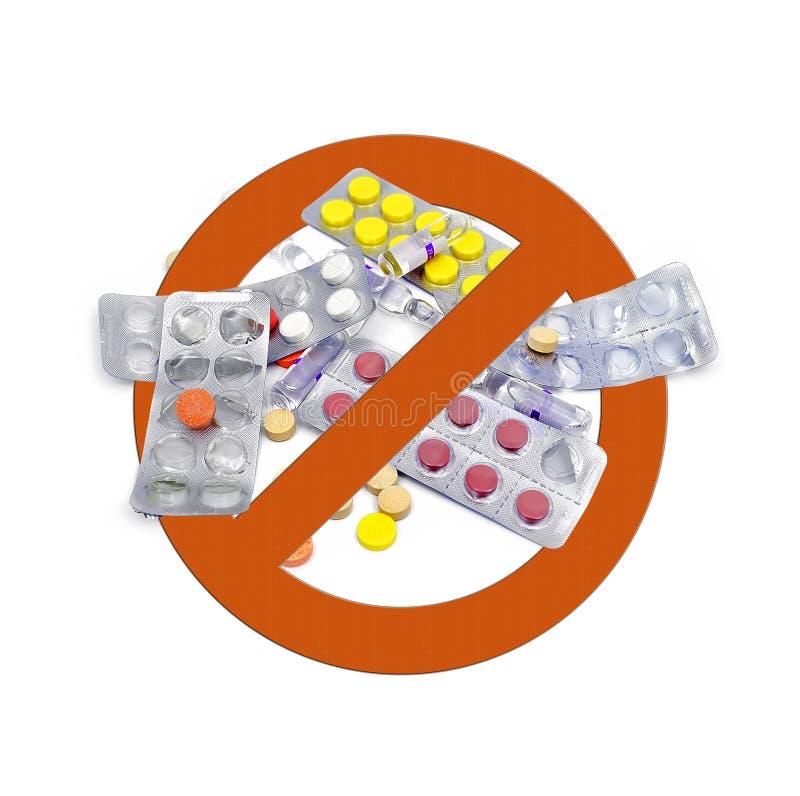 Aucunes drogues images libres de droits