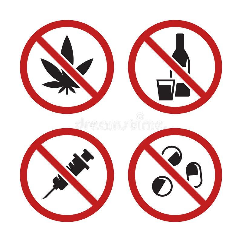 Aucunes drogues illustration stock