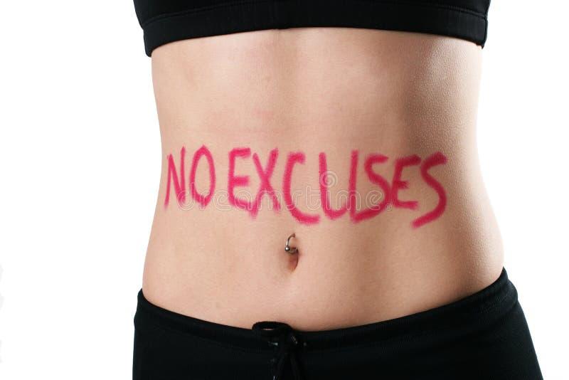 Aucunes excuses photos stock