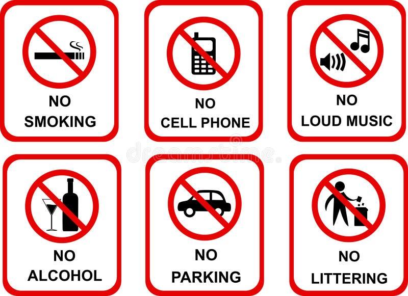 Aucunes icônes de signe illustration de vecteur