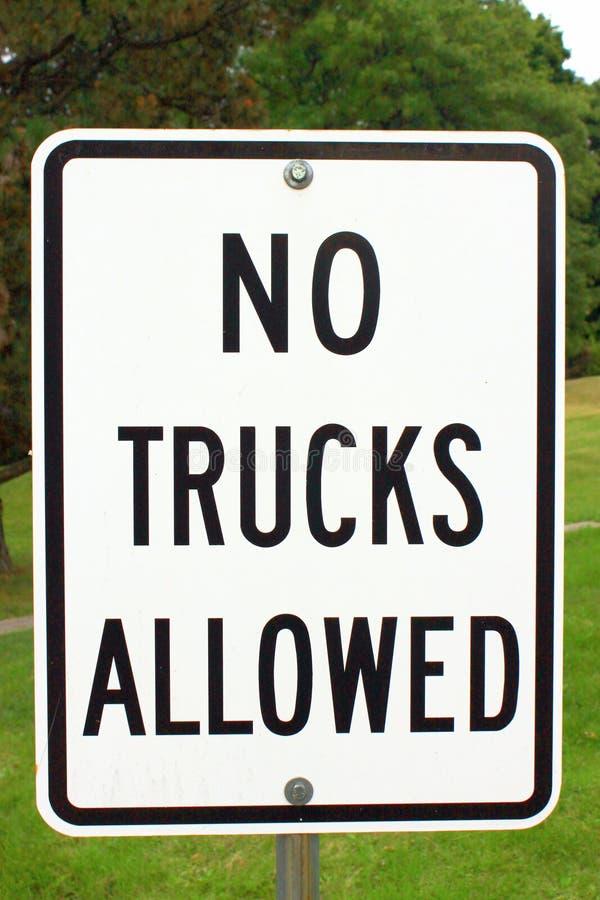 Aucuns camions permis photo stock