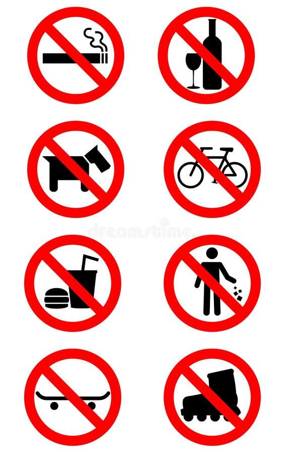 Aucuns signes illustration libre de droits