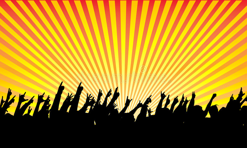Audiência ilustração royalty free