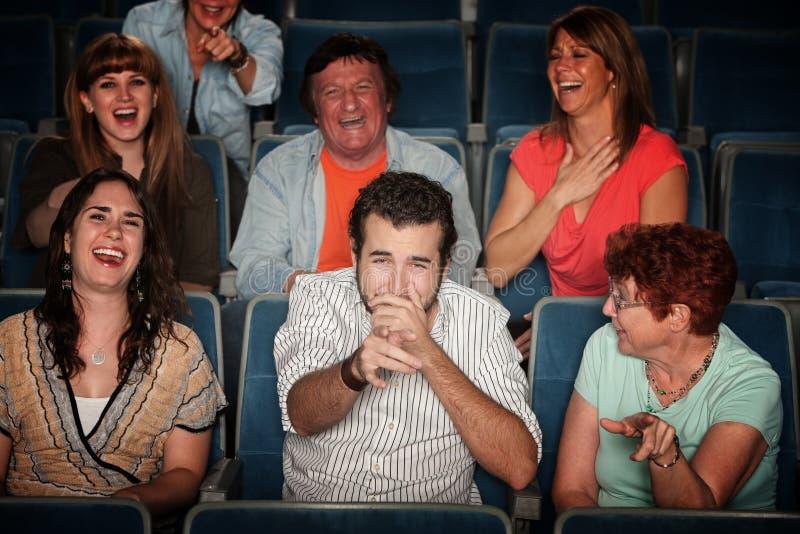 Audiência de riso fotografia de stock