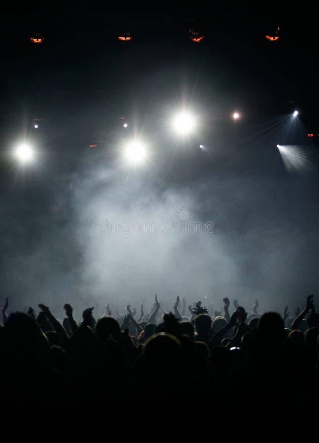 Audiência do concerto foto de stock royalty free