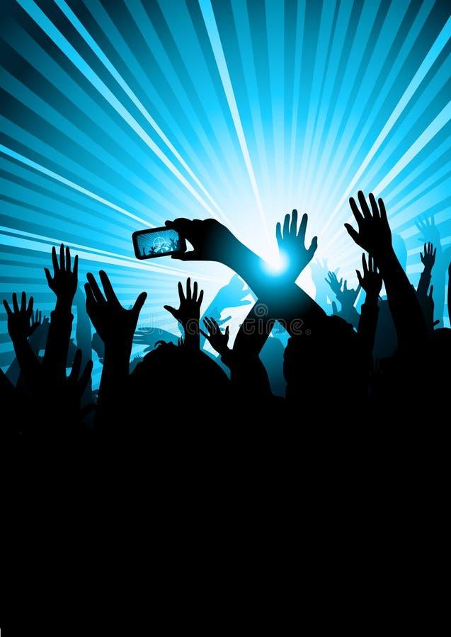 Audiência do concerto da música ilustração stock