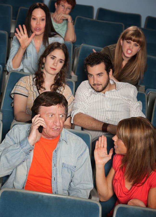 Audiência Irked fotografia de stock