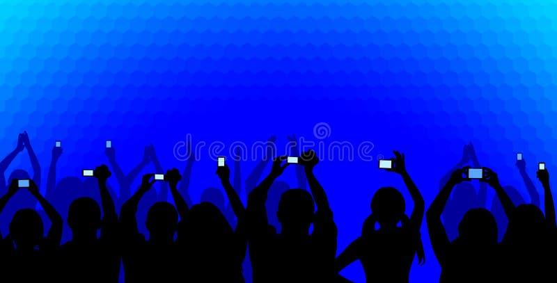 Audiência no azul ilustração royalty free