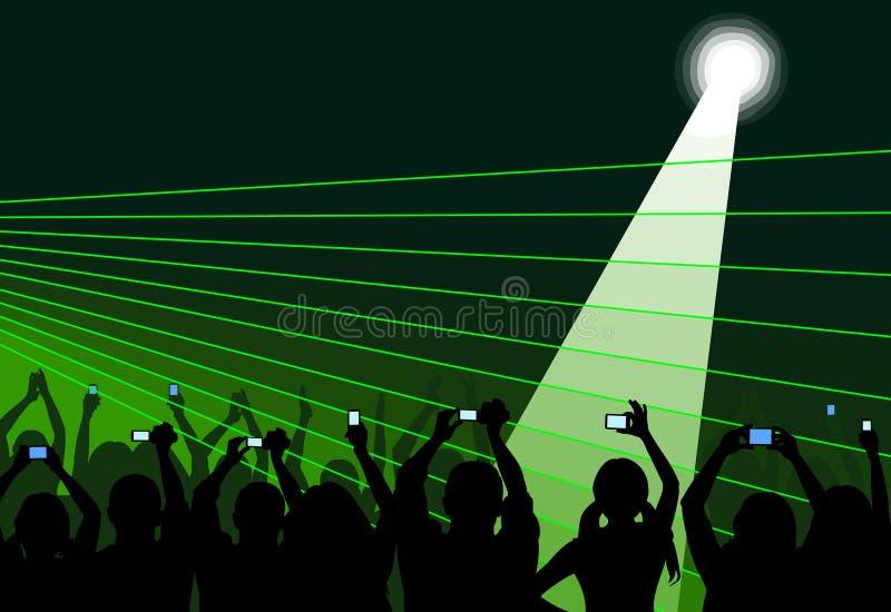 Audiência no verde ilustração royalty free
