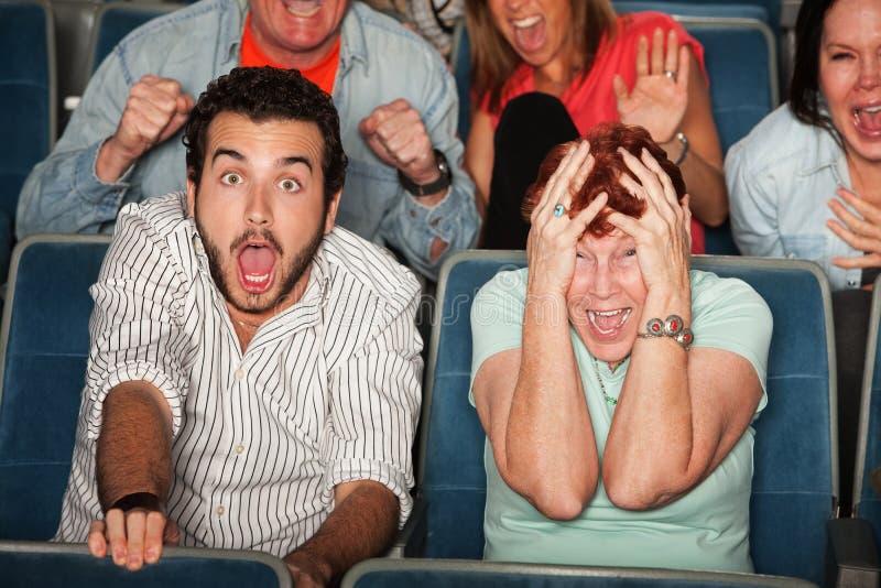 Audiência Scared fotos de stock