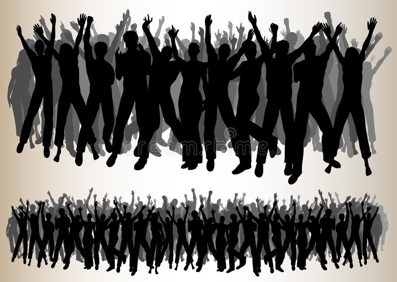 Audiências Cheering ilustração royalty free